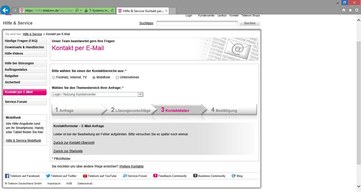 Telekom Kundendienst E Mail